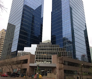 Image of Scotia Place in downtown Edmonton.