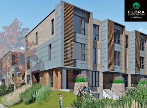 Artist's conception of a portion of Phase 1 of the VillaNova multi-res development in Montreal's Griffintown.