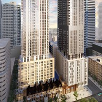 An artist's rendering of the Plazacorp Theatre District Residence planned for Toronto.