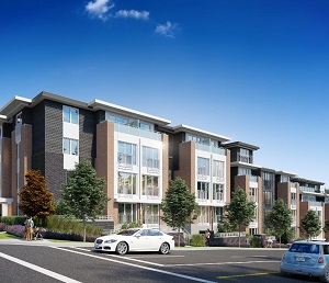 Image showing Spire Landing, a Passive House purpose-built rental apartment on Fraser St. in Vancouver.