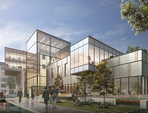 Artist's conception of the Richardson Innovation Centre which will be built in downtown Winnipeg.