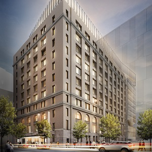 Allied Properties REIT is renovating this building at 425 Viger St. in Montreal.