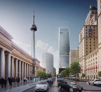 Cadillac Fairview will build this $800 Million Office Tower at 160 Front St. in downtown Toronto. (Rendering courtesy Cadillac Fairview)