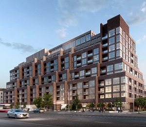 Rendering of SCOUT condominiums, Graywood Developments' second project along Toronto's St. Clair West.