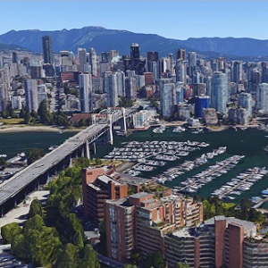A view of downtown Vancouver.