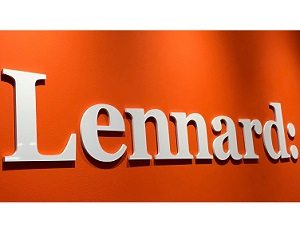 Image: Lennard Commercial Realty entrance sign.