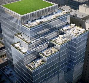 Image: Carttera's 19-storey, 65 King East office tower in Toronto will feature more than 18,000 square feet of terraces.