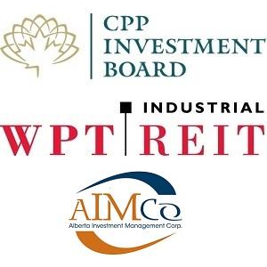 Logos: AIMCo, WPT Industrial REIT, CPPIB.