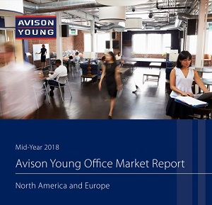 Image: Avison Young's Mid-Year 2018 North America and Europe Office Market Report