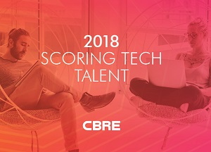 Image: CBRE's North American 2018 Scoring Tech Talent Report.
