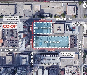 IMAGE: Cidex Group of Companies has purchased this potential redevelopment site in Calgary's Beltline from ATCO.