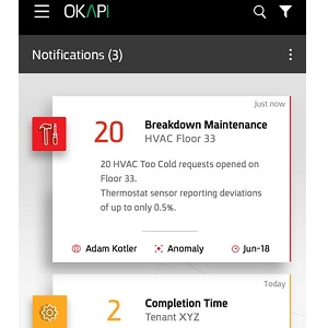 Image: A notification within the Okapi app.