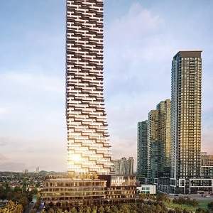 IMAGE: The 81-storey M3 will be the third residential tower to be built at Mississauga's M City site. (Image courtesy Urban Capital)