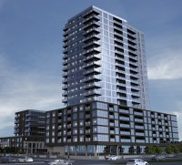 IMAGE: An artist's rendering of a Carling Avenue residential redevelopment proposed in Ottawa by Holloway Lodging.