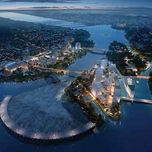 IMAGE: Artist's rendering of the Ottawa-Gatineau Zibi site.