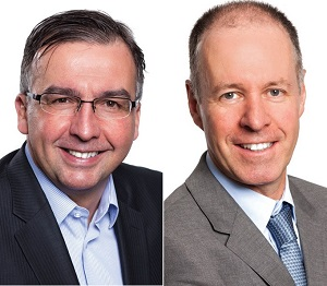 IMAGES: Robert MEtcalfe, left, and Jean Pierre Gagnon are new principals at the Avison Young Montreal office. (Images courtesy AY)
