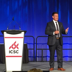 IMAGE: Michael Brown of A.T. Kearney, speaking at ICSC 2018 in Toronto. (Steve McLean RENX)