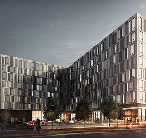 IMAGE: A rendering of University Studios in Oshawa, Ont. (Image courtesy Podium Developments)