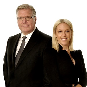 IMAGE: Mike Czestochowski and Lauren White of CBRE Canada. (Image courtesy CBRE)
