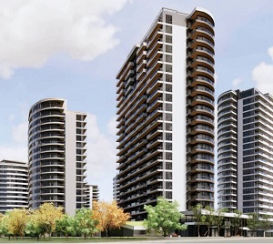 IMAGE:  Parc Central in Laval is being developed by Saroukia Group. (Rendering courtesy Saroukian Group)