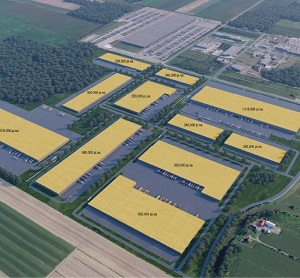 IMAGE: Rendering of new development planned for the Alta Industrial Park outside Montreal. (Image courtesy Broccolini / Alta)