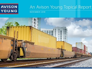 IMAGE: Avison Young has released a report on intermodal logistics in the Greater Toronto Area.