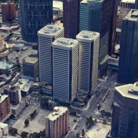 IMAGE: Sun Life Plaza in Calgary has been acquired by Aspen Properties. (Google Street View image)