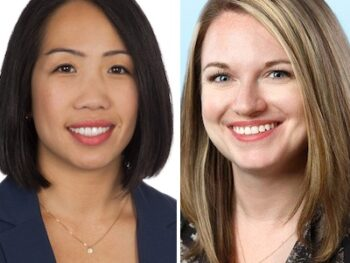 IMAGE: Amy Vuong and Sarah Bramley of Colliers International.