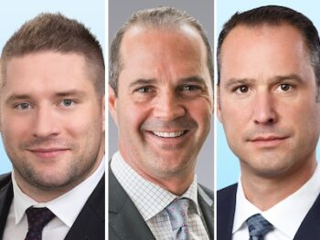 IMAGE: From left, Dan Chatfield, Grant Evans and Eric Horvath of Colliers Canada. (Courtesy Colliers)