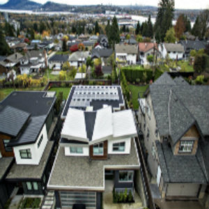 A Vancouver house equipped with a Solar Alliance solar system